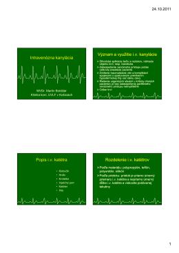 Intravenózna kanylácia