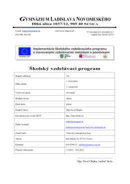ŠkVP 2011/2012