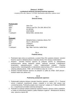 Dohoda č - O škole