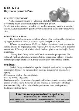 KĽUKVA - Centrum rozvoja záhradníctva, spol. s ro