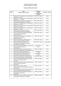 Seznam akreditovaných vyšetření