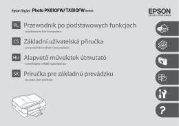 Epson Stylus Photo PX810FW/TX810FW Series
