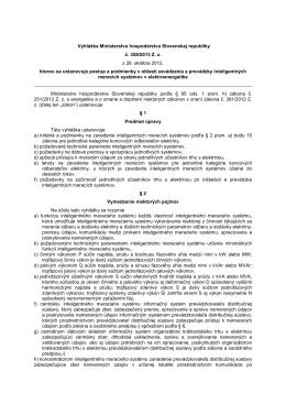Vyhláška Ministerstva hospodárstva Slovenskej