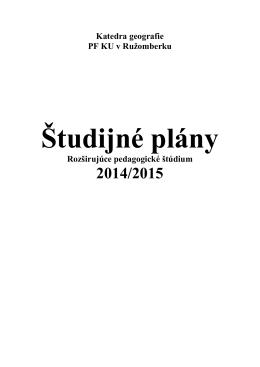 Študijné plány