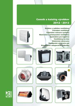 Cenník ventilátorov 2012/2013 (Vortice)