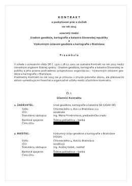 Kontrakt na rok 2015