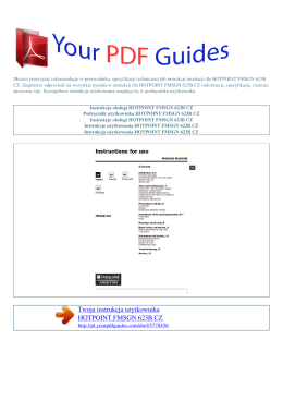 Instrukcje obsługi HOTPOINT FMSGN 623B CZ