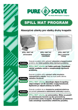 SPILL MAT PROGRAM