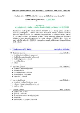 Súkromná stredná odborná škola, Tovarnícka 1641,955 01 Topoľčany