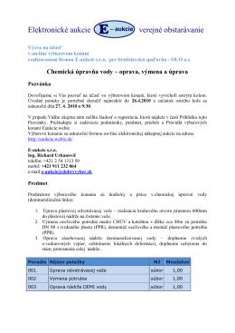Elektronické aukcie verejné obstarávanie
