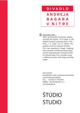 DAB Studio - Divadlo Andreja Bagara v Nitre
