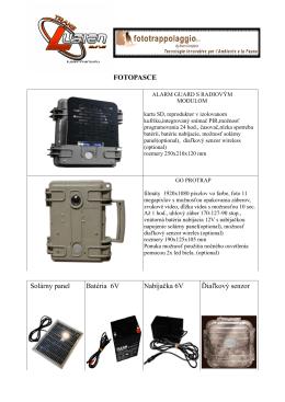 FOTOPASCE Solárny panel Batéria 6V Nabíjačka 6V