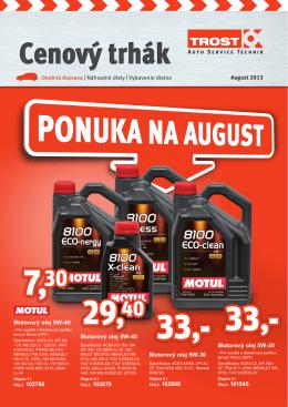 Vybavenie dielne August 2013 Motorový olej 5W-40
