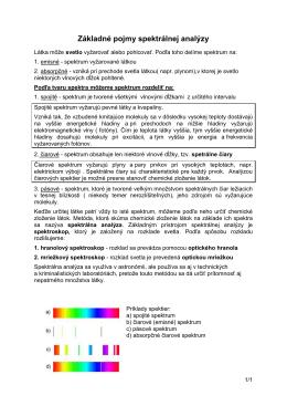 Základné pojmy spektrálnej analýzy