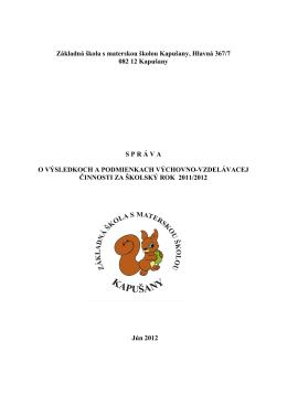 Základná škola s materskou školou Kapušany, Hlavná 367/7 082 12