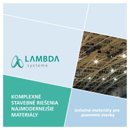 Izolačné materiály pre pozemné stavby (pdf)