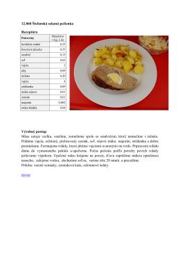 12.060 Štefanská sekaná pečienka Receptúra Výrobný