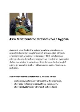 4336 M Veterinarne Zdravotnictvo