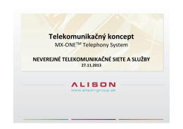 MX-‐ONETM Telephony System