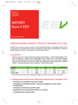 MOTORY Euro.V EEV