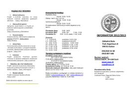 INFORMÁTOR 2012/2013