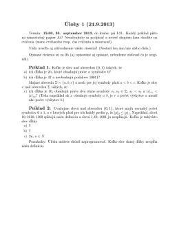 Úlohy 1 (24.9.2013)