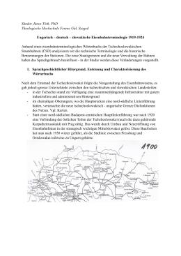 UNGARISCH-DEUTSCH-SLOWAKISCHE