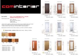 Cenník - intérierové dvere