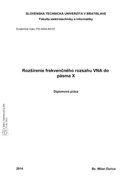 Rozšírenie frekvenčného rozsahu VNA do pásma X