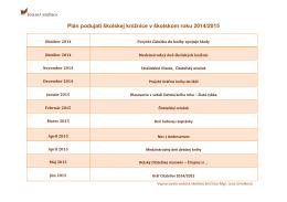 Plán podujatí školskej knižnice v školskom roku 2014/2015