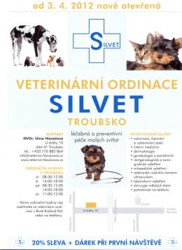 Nově otevřená veterinární ordinace Silvet