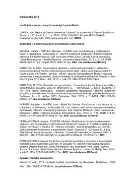 Rok 2013 - Ústav výskumu sociálnej komunikácie SAV