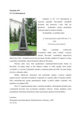 Pamätník SNP - osveta.mil.sk