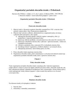 Organizačný poriadok obecného úradu v Príbelciach