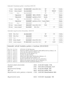 Kalendár zima 2014-15