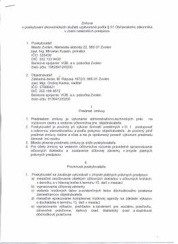 Zmluva o poskytovaní ekonomických služieb - 6zs