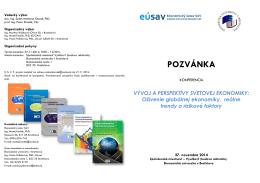 POZVÁNKA - Ekonomický ústav SAV