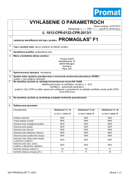PROMAGLAS® F1 (Iso)
