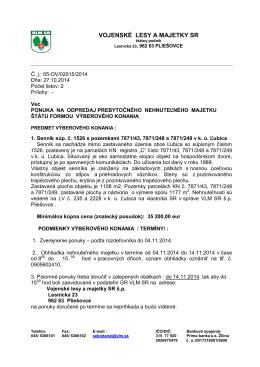 Vojenské lesy a majetky SR, š.p.