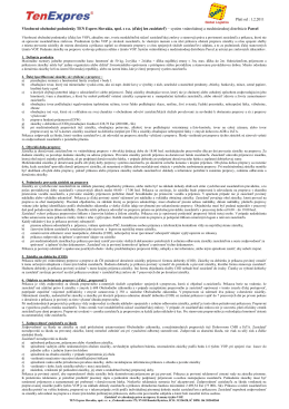 Všeobecné obchodné podmienky TEN Expres Slovakia, spol