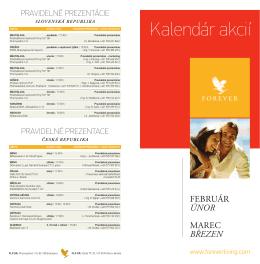 Kalendár akcií - Aloe Vera Forever