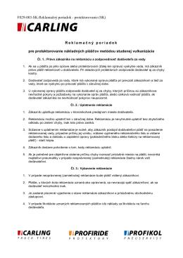 F029-003-SK-Reklamačný poriadok - protektorovanie