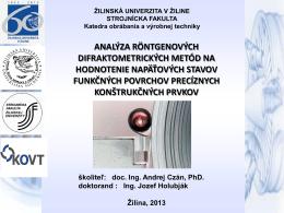 analýza röntgenových difraktometrických metód na