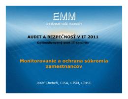 Monitorovanie a ochrana súkromia zamestnancov