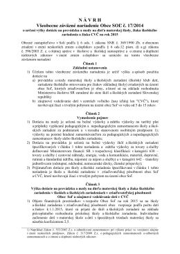 Všeobecné záväzné nariadenie Mesta Hanušovce nad