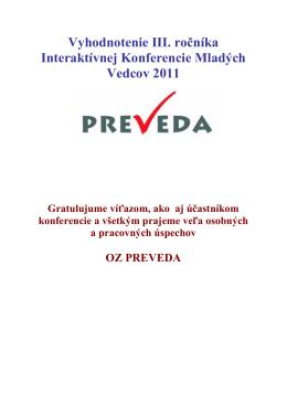 Vyhodnotenie konferencie 2011