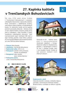 27 Kaplnka kaštieľa v Trenčianskych Bohuslaviciach