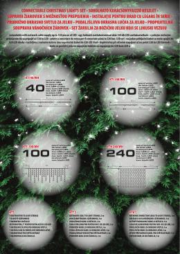 connectable christmas lights set • sorolható