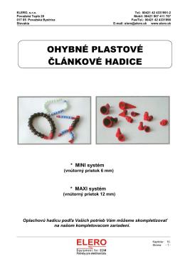 Ohybné plastové článkové hadice - kliknite tu