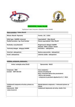 propozicie Muran rodeo 26.7.2014